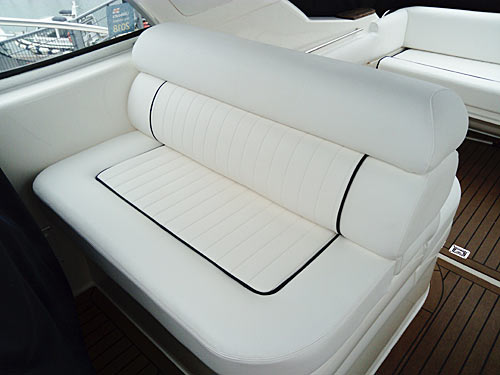 example of white boat upholstery