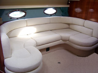 cream design for a saloon on a large yacht